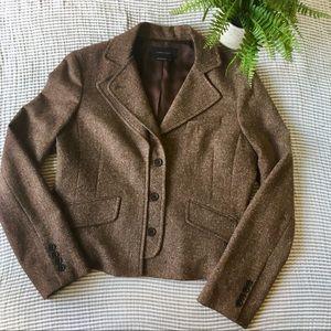 BCBGMaxAzria Tweed Wool Blend Blazer